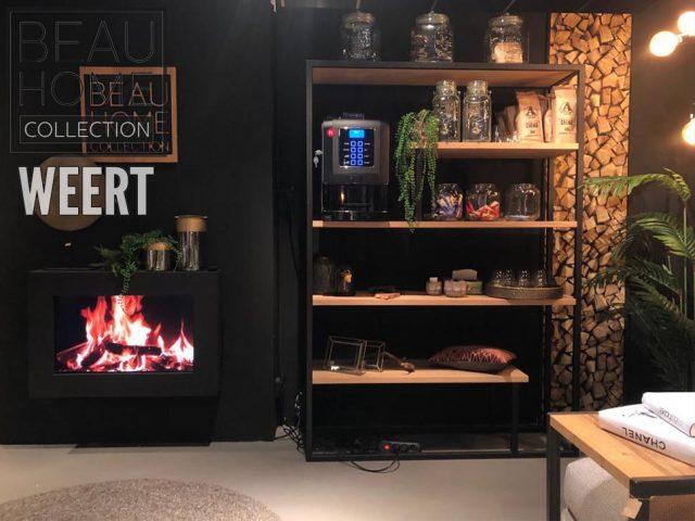 Roomdivider Venlo met zwart metalen frame en eiken planken