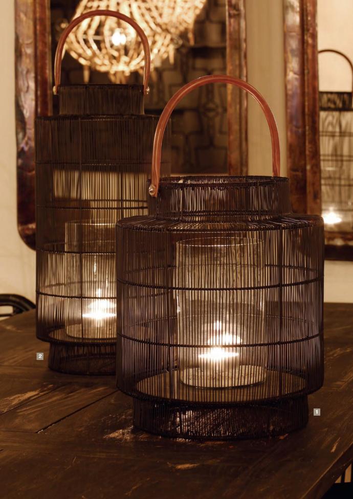 Tafellamp zwart mand design