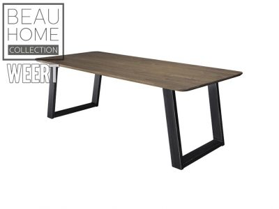 Eetkamertafel Den Haag, eettafel, tafel, zwart metalen poot, eiken, eikenhout