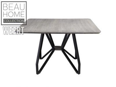 Eetkamertafel Peer, Eetkamertafel, tafel, eettafel, zwart metalen poten, zwarte poten, poten, grijs eikenhout, eikenhout