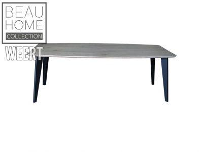 Eetkamertafel Hengelo. eettafel, tafel, eikenhout, Licht grijs eikenhout eetkamertafel met 4 losse zwart metalen poten